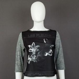 Zara W&B Collection Les Fleurs De Montmartres Top